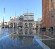 VENICE, VE, ITALY - January 31, 2015: Saint Mark's Basilica duri Royalty Free Stock Photography