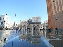 VENICE, VE, ITALY - January 31, 2015: Saint Mark's Basilica duri Stock Image