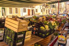Venice vegetable market. Venice Italy. Green Organic vegetables at Vegetable Market Venice Italy 2015 april Stock Images