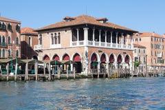 Venice, Veneto, Italy. Deserted Rialto Market, early in the morning Stock Image