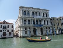 Venice - Ca `Pesaro. Venice, Veneto, Italy - June 2, 2014: Construction began in 1652 at the behest of the Pesaro family, but was only completed in 1710, in Royalty Free Stock Images