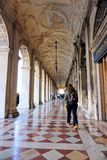 Venice, Veneto / Italy - March 2018: Venice, Veneto / Italy - March 2018: Tourists walking inside the Doge`s Palace. stock photo