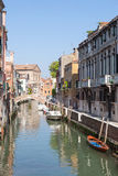 Venice, Veneto, Italy.  Rio Santa Catarina canal, Cannaregio Royalty Free Stock Image