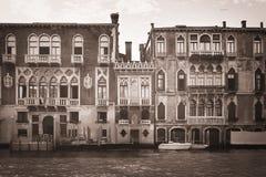 Venice veneto venetian venezia vintage black & white Royalty Free Stock Image