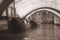 Venice veneto venetian venezia vintage black & white Royalty Free Stock Photography