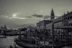 Venice Venezia Italy Gondolas. San Marco Venice Gondolas at the harbour royalty free stock photos