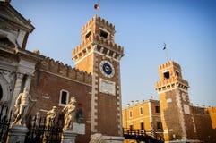 Venice Venezia Italy. Lions of Arsenal stock photos