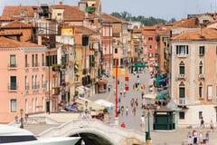 Venice via Giuseppe Garibaldi Royalty Free Stock Photo