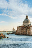 Venice view. View on the Basilica Di Santa Maria della Salute in Venice, Italy Royalty Free Stock Images