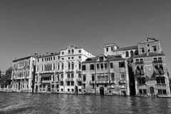 Venice view in black and white Stock Photo