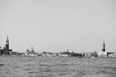 Venice view in black and white Royalty Free Stock Photos
