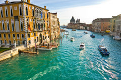 Venice, View from a Bridge. Royalty Free Stock Photography