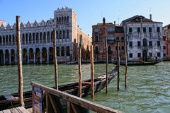 Venice, view of buildings facing the Grand Canal Royalty Free Stock Photos