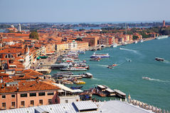 Venice  View from campanille at San Marco place Royalty Free Stock Images