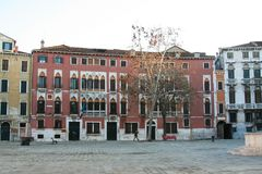 Venice, view of `Campo San Polo` royalty free stock image
