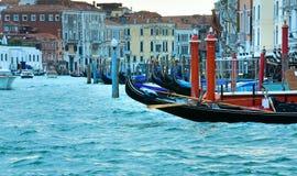 Venice view with gondolas Royalty Free Stock Photos
