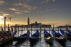 Venice, view of the lagoon from St Marks Square Stock Images