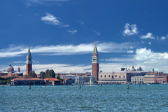 Venice view from lido Royalty Free Stock Photo