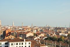 Venice, view from the parking place stock images