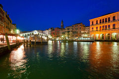 Venice, View from Rialto Bridge. Stock Photography