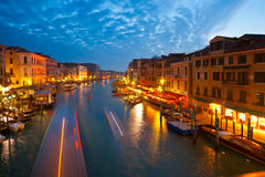 Venice, View from Rialto Bridge. Royalty Free Stock Photo