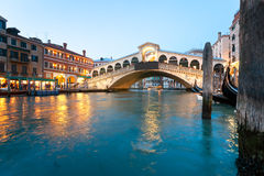Venice, View of Rialto Bridge. Royalty Free Stock Photography