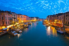 Venice, View from Rialto Bridge. Royalty Free Stock Image