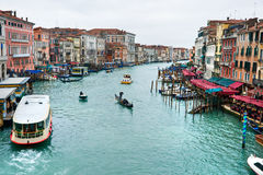 Venice, View from Rialto Bridge. Stock Images