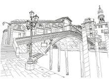 Venice. View of the Rialto Bridge Royalty Free Stock Photos