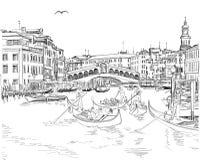 Venice - View of the Rialto Bridge Stock Photos