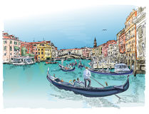 Venice. View of the Rialto Bridge Stock Photos