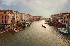 Venice, View from Rialto Bridge. Italy. Stock Photos