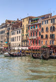 Venice, view from the Rialto Bridge. Summer day Royalty Free Stock Images