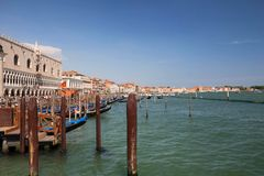 Venice in Italy. view of the river canal and traditional venetian architecture Stock Image