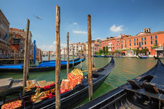 Venice /  View of the river and historical architecture Royalty Free Stock Photography