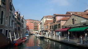 Venice. View of river water with bright architectural reflection Royalty Free Stock Photo