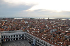 Venice. View of Venice from Saint marks campanile, Venice, Italy Stock Image