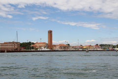 Venice, view from side of the lagoon. Royalty Free Stock Photography