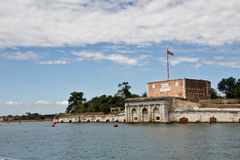 Venice, view from side of the lagoon. Royalty Free Stock Photos