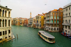 Venice - view from some bridge. Venice - view on the old city buildings from the bridge Royalty Free Stock Images