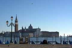 Venice,View of St. George`s Church Royalty Free Stock Photo