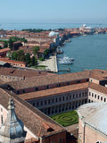 Venice. View from the tower of the church of San Giorgio Magiore Stock Images