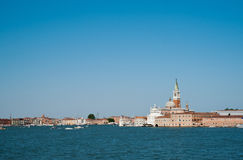 Venice view from water. Royalty Free Stock Photos