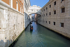 Venice. Views of Venice and its canals and its gondolas near Ponte dei Sospiri Stock Image
