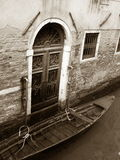 Venice villa and gondola Royalty Free Stock Image