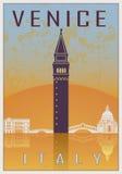 Venice vintage poster Royalty Free Stock Photos