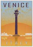 Venice vintage poster Royalty Free Stock Photos