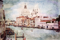 Venice. Vintage style photo. Stock Photos