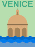 Venice. Vintage travel poster with Venice Royalty Free Stock Photos