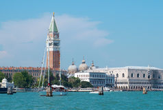 Venice from water Stock Photo